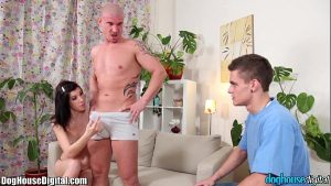 doghouse horned threesome amateur bisexual