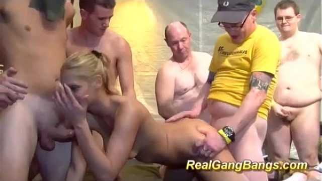delicious blonde adolescent in her true gangb amateur orgy