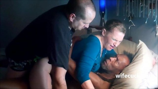 horned fellow in action with a mulatto bull amateur cuckold