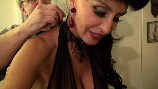 granny goes white adorable gilf takes amateur orgy