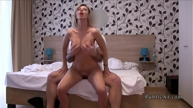 wife betraying man with public agent amateur european