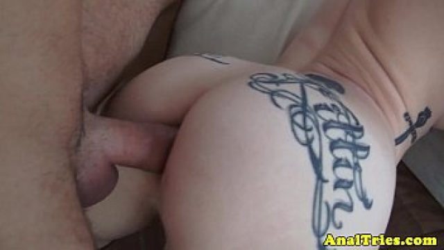 Amateur Anal hot tattooed backdoor homemade gets milk in mouth