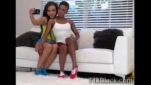Amateur Ebony oversexed chocolate girl teenages surprised